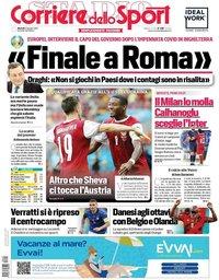 capa Corriere dello Sport de 22 junho 2021