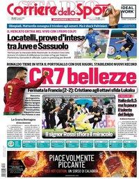 capa Corriere dello Sport de 24 junho 2021