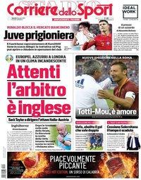 capa Corriere dello Sport de 25 junho 2021