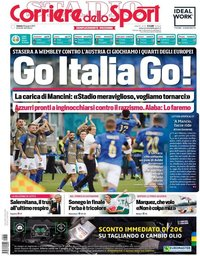 capa Corriere dello Sport de 26 junho 2021