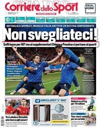 capa Corriere dello Sport de 27 junho 2021