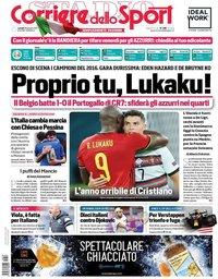 capa Corriere dello Sport de 28 junho 2021