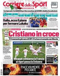 capa Corriere dello Sport de 29 junho 2021