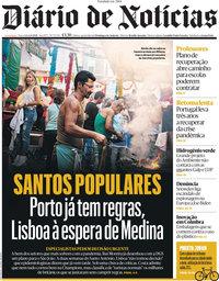 capa Diário de Notícias de 1 junho 2021