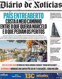 capa Diário de Notícias de 3 junho 2021