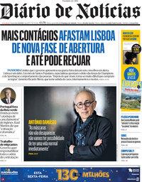 capa Diário de Notícias de 4 junho 2021