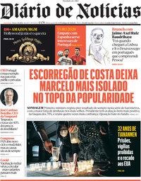 capa Diário de Notícias de 5 junho 2021