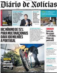 capa Diário de Notícias de 6 junho 2021