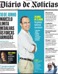 capa Diário de Notícias de 10 junho 2021