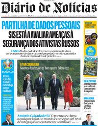 capa Diário de Notícias de 11 junho 2021