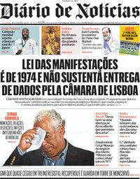 capa Diário de Notícias de 12 junho 2021