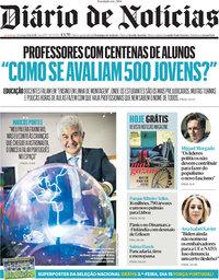 capa Diário de Notícias de 13 junho 2021