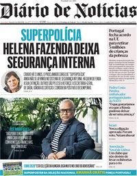 capa Diário de Notícias de 14 junho 2021