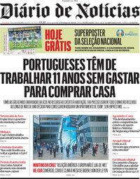 capa Diário de Notícias de 15 junho 2021