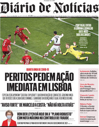 capa Diário de Notícias de 16 junho 2021