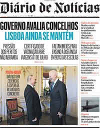 capa Diário de Notícias de 17 junho 2021