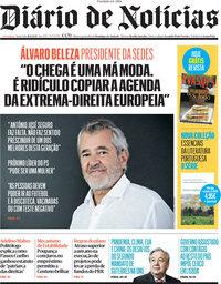 capa Diário de Notícias de 18 junho 2021