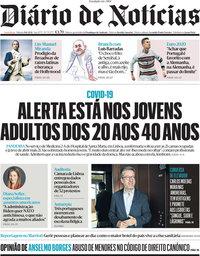 capa Diário de Notícias de 19 junho 2021