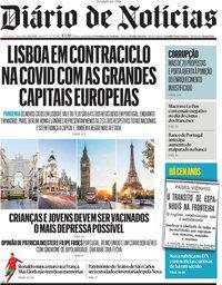 capa Diário de Notícias de 22 junho 2021