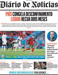 capa Diário de Notícias de 24 junho 2021