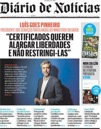 capa Diário de Notícias de 25 junho 2021