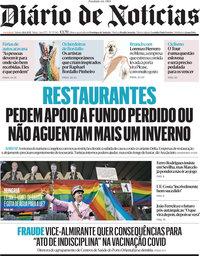 capa Diário de Notícias de 26 junho 2021