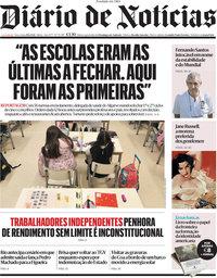 capa Diário de Notícias de 29 junho 2021