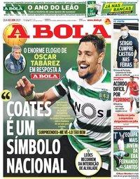 capa Jornal A Bola de 2 junho 2021