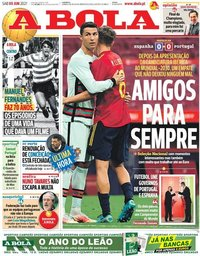 capa Jornal A Bola de 5 junho 2021