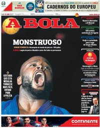 capa Jornal A Bola de 12 junho 2021