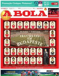 capa Jornal A Bola de 15 junho 2021