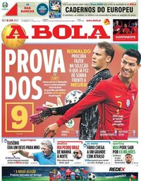 capa Jornal A Bola de 18 junho 2021