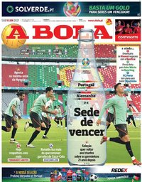 capa Jornal A Bola de 19 junho 2021