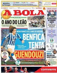 capa Jornal A Bola de 21 junho 2021