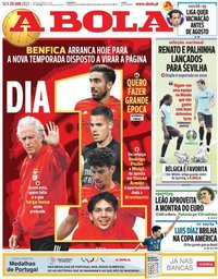 capa Jornal A Bola de 25 junho 2021