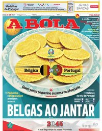 capa Jornal A Bola de 27 junho 2021