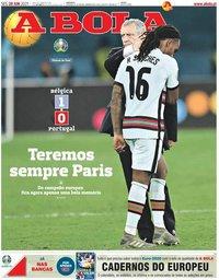 capa Jornal A Bola de 28 junho 2021