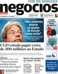 capa Jornal de Negócios de 4 junho 2021