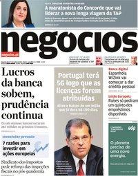 capa Jornal de Negócios de 7 junho 2021