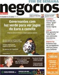 capa Jornal de Negócios de 11 junho 2021