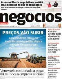capa Jornal de Negócios de 17 junho 2021