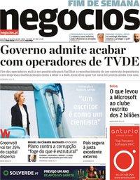 capa Jornal de Negócios de 25 junho 2021