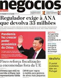 capa Jornal de Negócios de 29 junho 2021