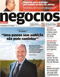 capa Jornal de Negócios de 30 junho 2021