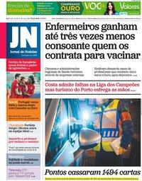 capa Jornal de Notícias de 1 junho 2021