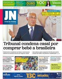 capa Jornal de Notícias de 3 junho 2021
