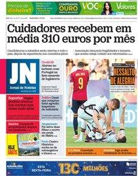 capa Jornal de Notícias de 4 junho 2021