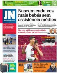 capa Jornal de Notícias de 5 junho 2021