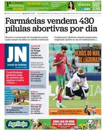 capa Jornal de Notícias de 7 junho 2021