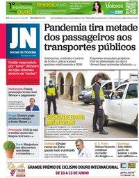 capa Jornal de Notícias de 8 junho 2021